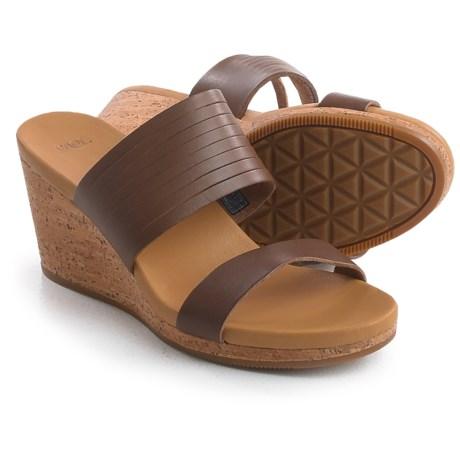 Teva Arrabelle Slide Sandals - Leather, Wedge Heel (For Women)