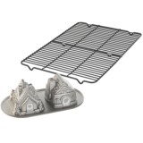 Nordic Ware Gingerbread House Baking Pan and Cooling Rack Set