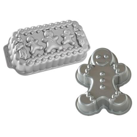 Nordic Ware Gingerbread Man Loaf and Cake Pan Set