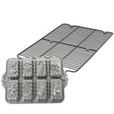 Nordic Ware Holiday Mini Loaf Pan and Cooling Rack Set