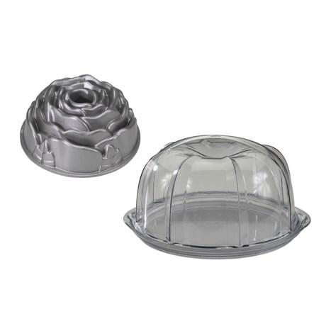 Nordic Ware Rose Bundt Pan and Cake Keeper Set