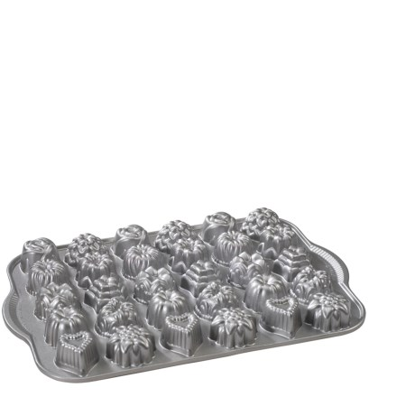 Nordic Ware Bundt Tea Cakes and Candies Mold and Cooling Rack Set