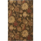 Rizzy Home Floral Area Rug - 9x12', New Zealand Wool