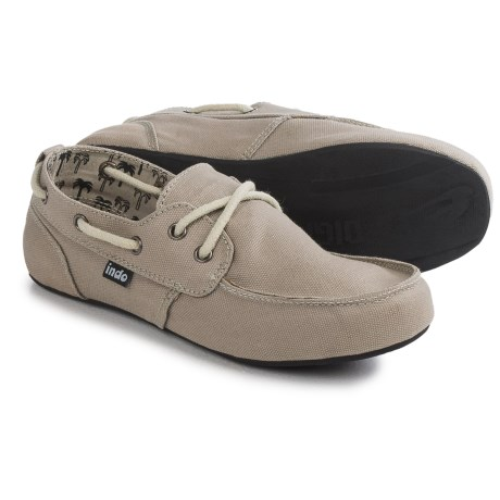 Indosole Prahu Boat Shoes - Cotton Canvas (For Women)