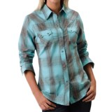 Roper Thorn Plaid Western Shirt - Snap Front, Long Sleeve (For Women)