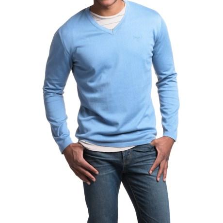 Barbour Lightweight Pima Cotton Sweater - V-Neck (For Men)
