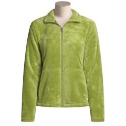 White Sierra Cozy Fleece Jacket (For Women)
