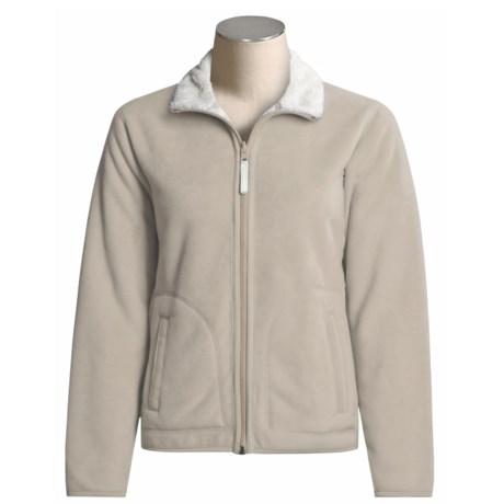 White Sierra Flip Flop Reversible Jacket - Fleece (For Women)