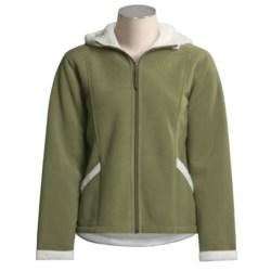 White Sierra Jeanette Fleece Jacket - Hooded (For Women)