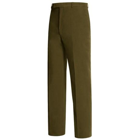 Lambourne Stretch Moleskin Pants - Flat Front (For Men)