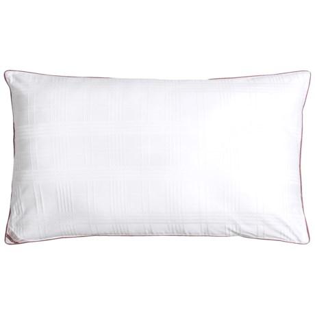 Blue Ridge Home Fashions Windowpane Down Alternative Pillow - King, 500 TC