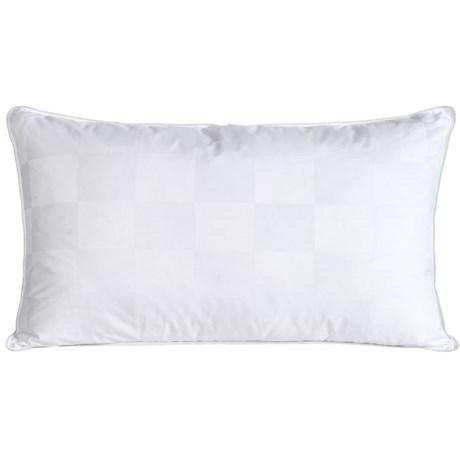 Blue Ridge Home Fashions Italian Check White Down Pillow - King, 1000 TC