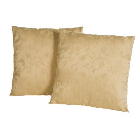 """Blue Ridge Home Fashions Classic Throw Pillows -18x18"""", 2-Pack"""