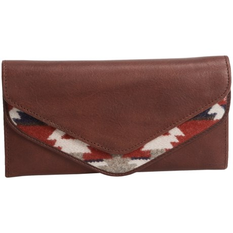 Pendleton Envelope Wallet - Fabric and Leather (For Women)