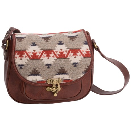 Pendleton Refined Saddle Bag - Fabric and Leather (For Women)