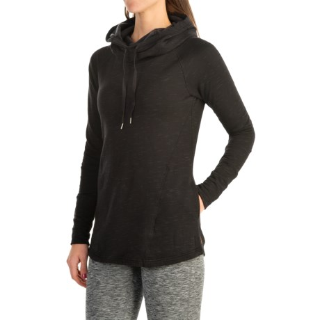 lucy Dance Workout Hooded Pullover Shirt - Long Sleeve (For Women)