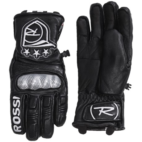 Rossignol World Cup Hero Thinsulate® Leather UMPR Gloves - Waterproof, Insulated (For Men)