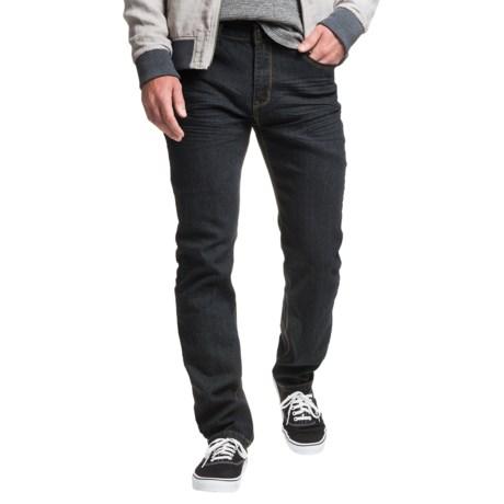 Mott and Grand Mott & Grand Zigzag Detail Jeans - Slim Fit (For Men)