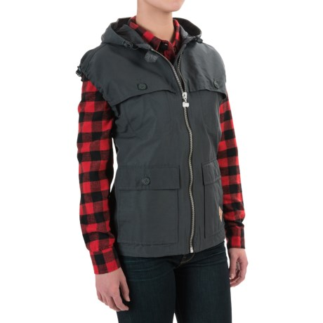 Woolrich White Label Waxed Heritage Stag Vest (For Women)