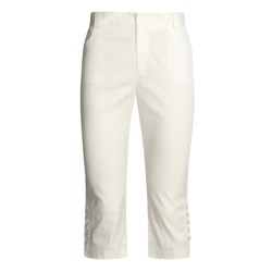 Kial Stretch Capri Pants - Cotton (For Women)