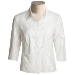 Kial Linen-Rich Battenberg Jacket (For Women)