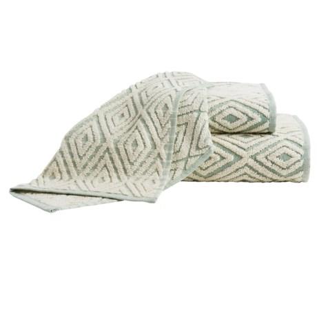 The Turkish Towel Company Rhombus Jacquard Hand Towel