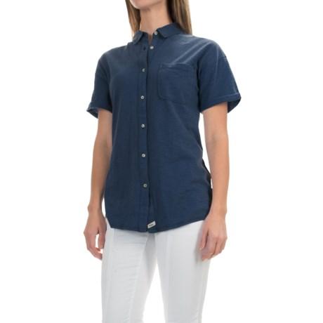 Woolrich Boyfriend Knit Shirt - Short Sleeve (For Women)