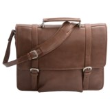 Scully Hidesign Leather Laptop Briefcase