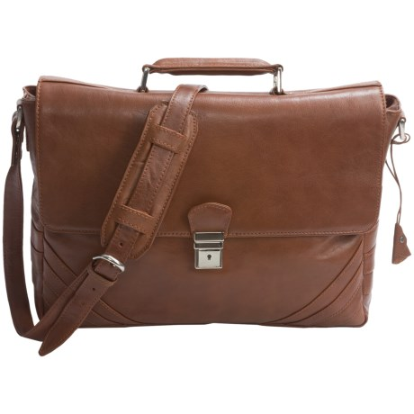 Scully Hidesign Magnetic Flap Laptop Briefcase - Leather
