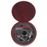 Mimo Style Wine Accessory Kit - 5-Piece, Mahogany Case