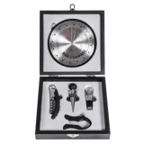 Mimo Style Deluxe Wine Accessory Kit with Bar Compass - 6-Piece, Stainless Steel