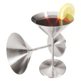 Oggi OGGI Stainless Steel Martini Goblets - 8 fl.oz., Set of 2
