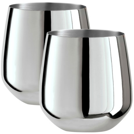 Oggi OGGI Stainless Steel Stemless Wine Glasses - Set of 2, 17 fl.oz.