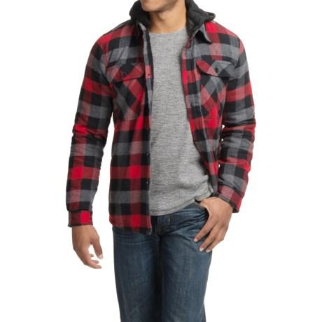 Visitor Hooded Flannel Shirt Jacket - Sherpa Lined (For Men)