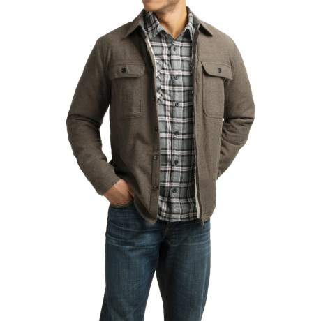 Visitor Flannel Sherpa-Lined Shirt Jacket (For Men)