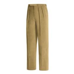 Lambourne English Corduroy Pants - Robust, Double Pleats (For Men)