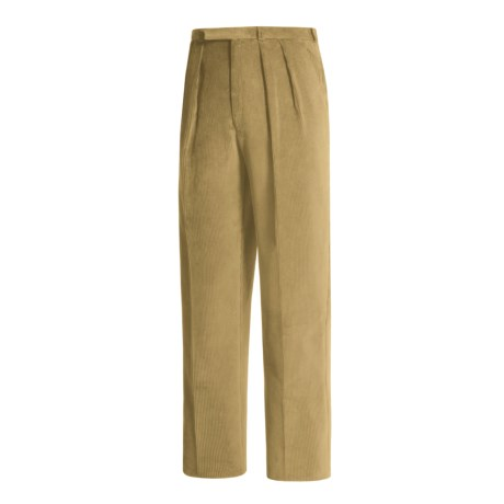 Lambourne English Corduroy Pants - Robust, Double Pleats (For Men)