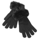 Betmar Knit Gloves with Faux Fur Cuffs (For Women)