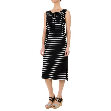 Paraphrase French Terry Striped Dress - Sleeveless (For Women)