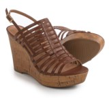 Franco Sarto Sombre Strappy Wedge Sandals - Leather (For Women)