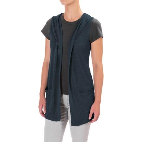 Artisan NY Knit Hoodie Sleeveless Cardigan - Linen Blend (For Women)