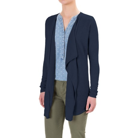 Tahari Linen Cardigan Sweater - Open Front (For Women)