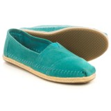 TOMS Suede Rope Sole Shoes- Slip-Ons (For Women)
