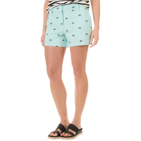 Cambridge Dry Goods Bicycle Embroidered Shorts (For Women)