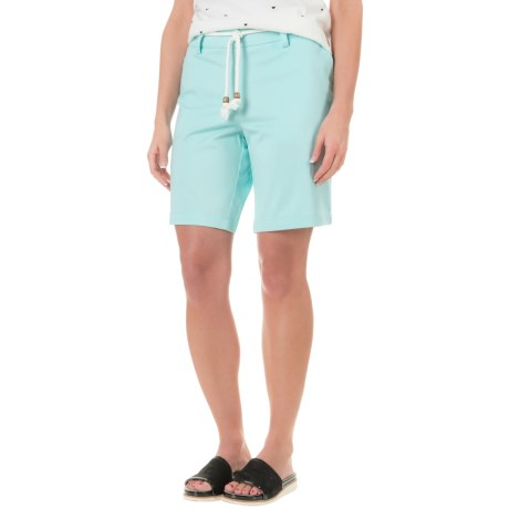 """Cambridge Dry Goods Belted Bermuda Shorts - 9"""" (For Women)"""
