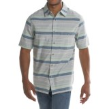 Woolrich Lost Lake Chambray Stripe Shirt - Short Sleeve (For Men)