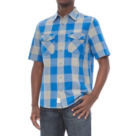 Woolrich Zephyr Ridge Space-Dyed Check Shirt - Short Sleeve (For Men)