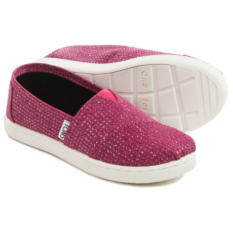 TOMS Alpargata Classic Glitter Shoes (For Little and Big Girls)