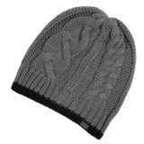 PWDR Room Cable-Knit Tipped Beanie (For Men and Women)