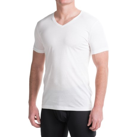 Ragman Pima Cotton V-Neck Undershirts - 2-Pack, Short Sleeve (For Men)